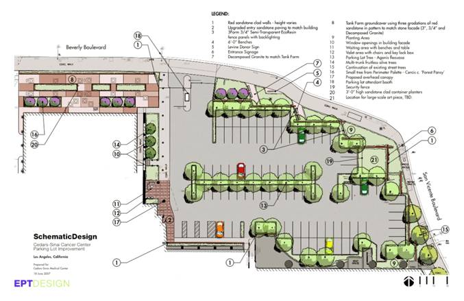 Parking Lot Design and Plans http://www.intelisyn.com/WebData/ProjectProfiles/Medical/Hospital/CedarsCCCParking.htm